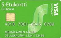 Kuva S-Etukortti Visa -luottokortista