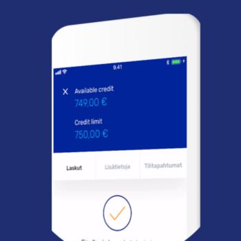 creditea mobiililompakko, tili ja maksukortti